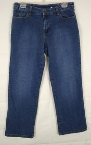 Chadwick's blue jeans with floral embroidery 12P